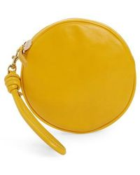 Clare V. - Lambskin Leather Circle Clutch - Lyst