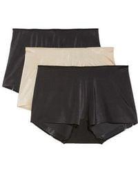 Tc Fine Intimates - 3-pack High Waist Boyshorts, Black - Lyst