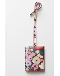 Anthropologie - Picturesque Florals Luggage Tag - Burgundy - Lyst