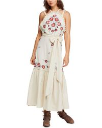e16763dcfd Free People First Kiss Floral Print Maxi Dress in Blue - Lyst