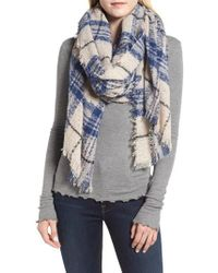 Sole Society - Mixed Plaid Scarf - Lyst