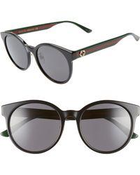0aa6f52247adb Lyst - Gucci Gg3815 Round-frame Sunglasses in White