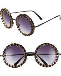 644984ac4268 Lyst - Chanel Sunglasses Kokomark Rhinestone Used Y038 in Black