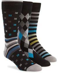 Bugatchi - 3-pack Assorted Mercerized Cotton Blend Sock Gift Set - Lyst