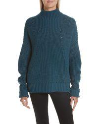 Jason Wu - Merino Wool Mock Neck Sweater - Lyst
