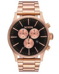 Nixon | The Sentry Chronograph Bracelet Watch | Lyst