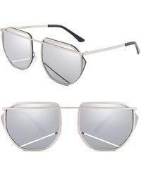 SUNNYSIDE LA - 67mm Mirrored Sunglasses - Lyst