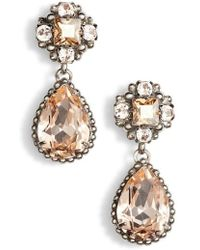 Sorrelli - Posey Crystal Drop Earrings - Lyst