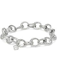 David Yurman - Cable Collectives Oval Link Charm Bracelet - Lyst