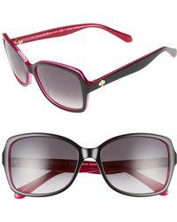 Kate Spade - 'ayleens' 56mm Sunglasses - - Lyst