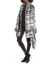 Sole Society - Oversize Jacquard Wrap - Lyst