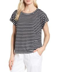 Eileen Fisher - Stripe Boxy Organic Linen Top - Lyst