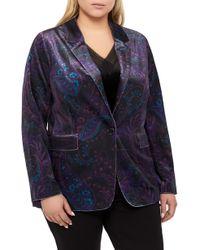 ce18b4f49a4 Lyst - Comme des Garçons Floral Tapestry Jacquard Vest in Black
