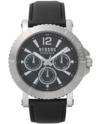 Versus - Versus By Versace Steenberg Multifunction Leather Strap Watch - Lyst