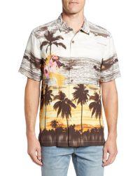 Tommy Bahama - Sunset Serenade Silk Sport Shirt - Lyst