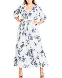 City Chic - Shinjuku Maxi Dress - Lyst