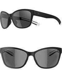6d95e4d604 Lyst - adidas Whipstart 61mm Rectangle Sport Sunglasses - in Black