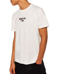 TOPMAN - New York City Graphic T-shirt - Lyst