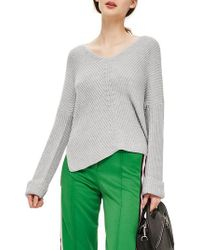 TOPSHOP | Ribbed Cashmere Blend Sweater | Lyst