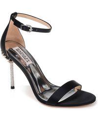 Badgley Mischka - Badgley Mischka Vicia Crystal Embellished Heel Sandal - Lyst