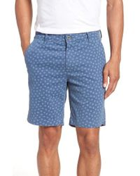 AG Jeans - Flora Print Slim Fit Shorts - Lyst