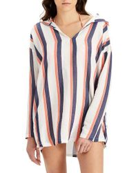 Onia - Sophia Stripe Hooded Cover-up Tunic - Lyst