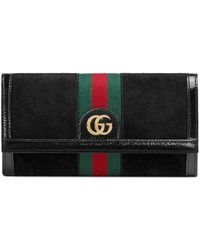 Gucci - Ophidia Suede Continental Wallet - - Lyst