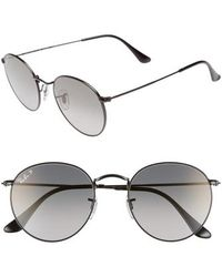 15abae4acd5 Ray-Ban Logotemple Square Sunglasses in Brown - Lyst