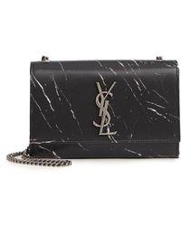 Saint Laurent - Small Kate Marbled Satin Crossbody Bag - - Lyst