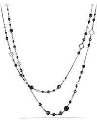 David Yurman - 'dy Elements' Chain Necklace With Black Onyx And Hematine - Lyst