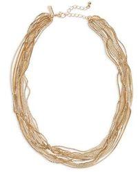 TOPSHOP - Layered Row Bracelet - Lyst