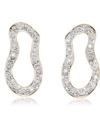 Monica Vinader - Riva Pod Diamond Drop Earrings - Lyst