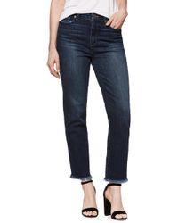 PAIGE - Hoxton Transcend Vintage High Waist Ankle Straight Leg Jeans - Lyst