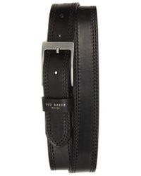 Ted Baker - Crikiit Stitched Leather Belt - Lyst
