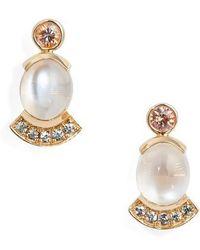 Mociun - Moonstone & Sapphire Drop Earrings - Lyst