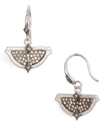 Armenta - New World Half-circle Pointed Pave Earrings - Lyst
