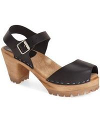 MIA - Greta Woodgrain Sandals - Lyst