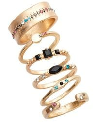 Treasure & Bond - Set Of 6 Cocktail Stackable Rings - Lyst