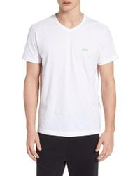 BOSS - Teevn Regular Fit V-neck T-shirt - Lyst