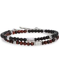 Caputo & Co. - Stone Bead Wrap Bracelet - Lyst