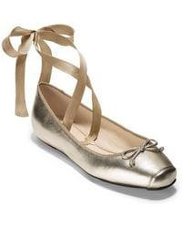 Cole Haan - Downtown Ankle Wrap Ballet Flat - Lyst