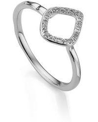 Monica Vinader | Riva Mini Kite Diamond Stacking Ring | Lyst