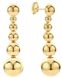 Lagos - Caviar Gold Collection 18k Gold Graduated Six Bead Drop Earrings - Lyst