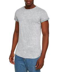 TOPMAN - Crinkle Marble T-shirt - Lyst