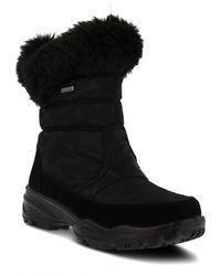 Spring Step - Korine Waterproof Faux Fur Bootie - Lyst
