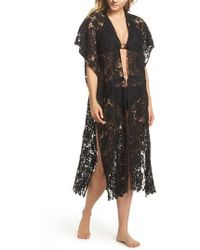 Echo - Star Coral Lace Cover-up Tunic - Lyst