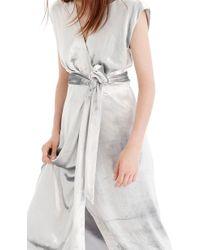 J.Crew - Collection Velvet Wrap Dress - Lyst