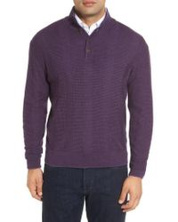 Robert Talbott - 'legacy Collection' Mock Neck Wool Sweater - Lyst