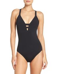 Seafolly - Active Deep-v One-piece Swimsuit - Lyst
