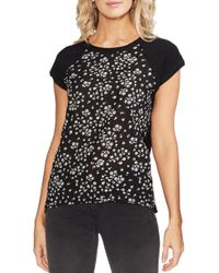 Vince Camuto - Scattered Floral Stamp Mix Top - Lyst